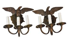 Brass Sconces Pair Of Vintage Brass Eagle Sconces Mecox Gardens