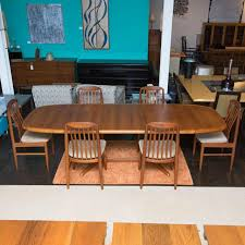 Teak Dining Room Furniture Danish Modern Ansager Mobler Teak Dining Table Chairish