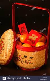 new years basket new year mandarin orange basket stock photo 15064630 alamy