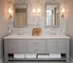 Grey Bathrooms Decorating Ideas Double Sink Bathroom Decorating Ideas With Light Gray Contemporary