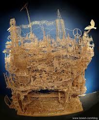 toothpick house braish creative house 100 000 toothpicks sculpture by scott weaver
