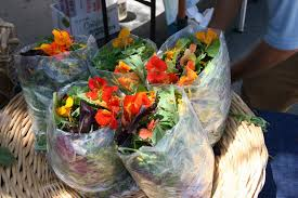 organic edible flowers organic baby greens and edible flowers montclair farmers market