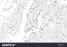 Usa Map New York City by New York City Map Streets Usa Stock Vector 490883626 Shutterstock