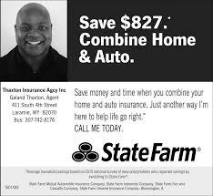 combine home and auto thaxton insurance agcy inc statefarm laramie wy