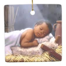 black baby jesus painting ornaments keepsake ornaments zazzle