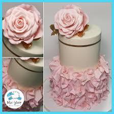 Kitchen Tea Cake Ideas Blush Pink And Ivory Ruffle Cake Bridal Shower Cake Nj