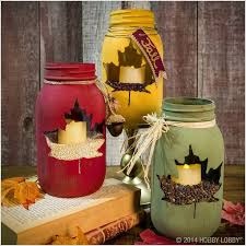 jar candle ideas maple leaf jar jar crafts