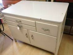 Reserved Metal Kitchen Cabinet With Enamel Top Mid Century - Enamel kitchen cabinets