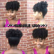 quick u0026 easy natural hairstyles pineapple puff updo 4c hair as