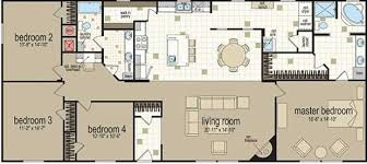 Double Wide Floor Plans With Photos X304 Color Floor Plan Doublewide 32x68 Jpg 619 277 Pixels Ideas