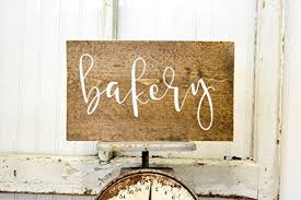 rustic kitchen wood sign bakery wall decor farmhouse decor