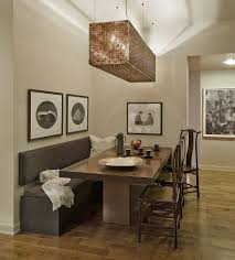 dining room contemporary long modern brown wood andh half glass