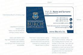 Size For Business Cards Business Card International Burch University