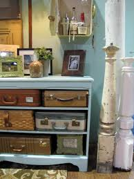 Home Vintage Decor Decorating With Vintage Suitcases