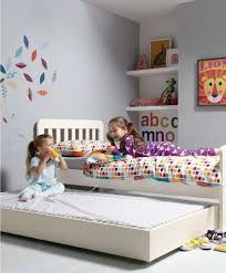 Kids Single Beds For Boys Bay Single Bed With Sleepover Trundle Including 2 Mattresses