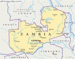 map of zambia zambia guide