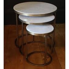 marble top nesting tables marble round nesting tables by madam stoltz