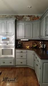 Painted Kitchen Backsplash Ideas by Chalk Paint Kitchen Kitchen Ideas Walnut Painted Soft Blue