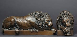 lion book ends lions bookends by antonio canova