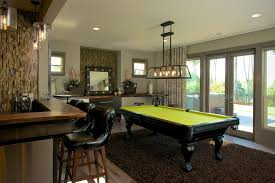 Pool Room Decor Pool Table Room Decor Family Room Transitional With Bar Beige Wall