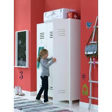 KIDS LOCKER STYLE  DOOR WARDROBE In White Pine Kids Locker - Kids room lockers