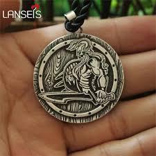 aliexpress men necklace images Lanseis 1pcs dropshipping viking savage pendant brutal men jpg