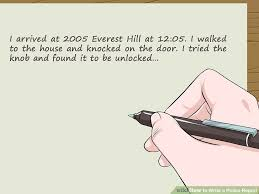 how to write a police report 14 steps with pictures wikihow