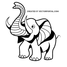 vector drawing of a baby elephant by vectorportal on deviantart