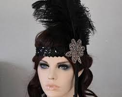 turkey feather headband gatsby headband etsy