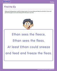printable reading worksheets for kindergarten u0026 fall word families