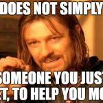 Meme One Does Not Simply - one does not simply meme generator imgflip