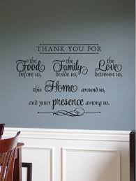 thank you for food family friends home vinyl wall art decal for