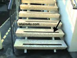 non skid stair tape on smooth exterior steps stairway safety