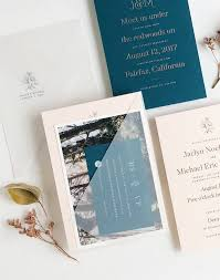 teal wedding invitations understated blush and teal wedding invitations