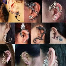 cool ear rings unisex vintage cool rock snake ear cuff stud