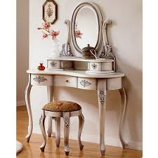 beautiful vintage vanity table design ideas with antique chair