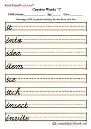 cursive words practice sheets writing pinterest cursive