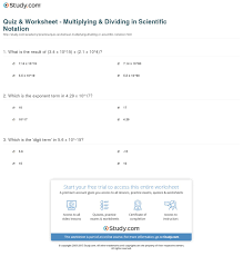 multiplying and dividing scientific notation worksheet quiz worksheet multiplying dividing in scientific notation