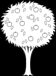 apple tree coloring page printable apple tree coloring sheet for kids shapes and patterns