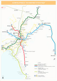 Green Line Metro Map by Athens Transport Information In English U2013 Athens Transport