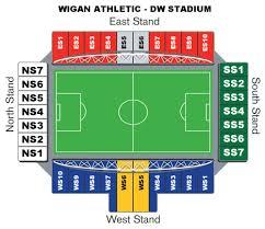 Sheffield Arena Floor Plan Wigan Athletic F C Football Club Of The Barclay U0027s Premier League