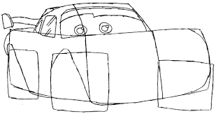 How To Draw Lightning Mcqueen From Disney Cars Movie Lesson How