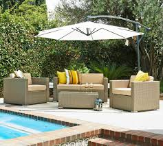 Patio Wicker Furniture Set - thy hom cane garden 5 piece wicker conversation set 4 5 person