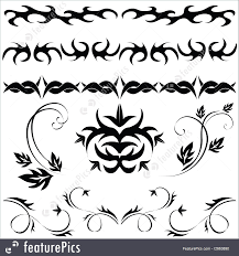 set gothic pattern templates different set of gothic patterns and ornaments