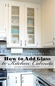 white kitchen cabinet with glass doors how to add glass to cabinet doors