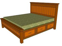Building A Platform Bed With Storage Drawers by King Size Bed Frame With Storage Drawers Plans Storage Decorations