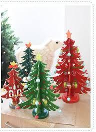 creative diy 3d wooden mini tree top table decorations