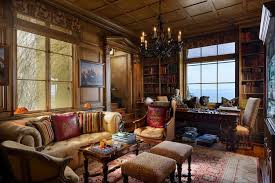 Home Office With Sofa Traditional Home Office With Built In Bookshelf U0026 Wainscoting In