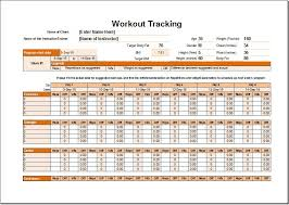 Workout Excel Template Workout Schedule Template Here S The Best Free Workout Log