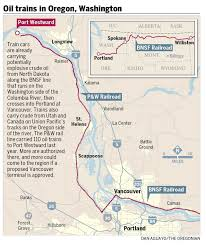 Oregon River Map by With 18 Oil Trains Weekly Columbia River Gorge Is The Key Route